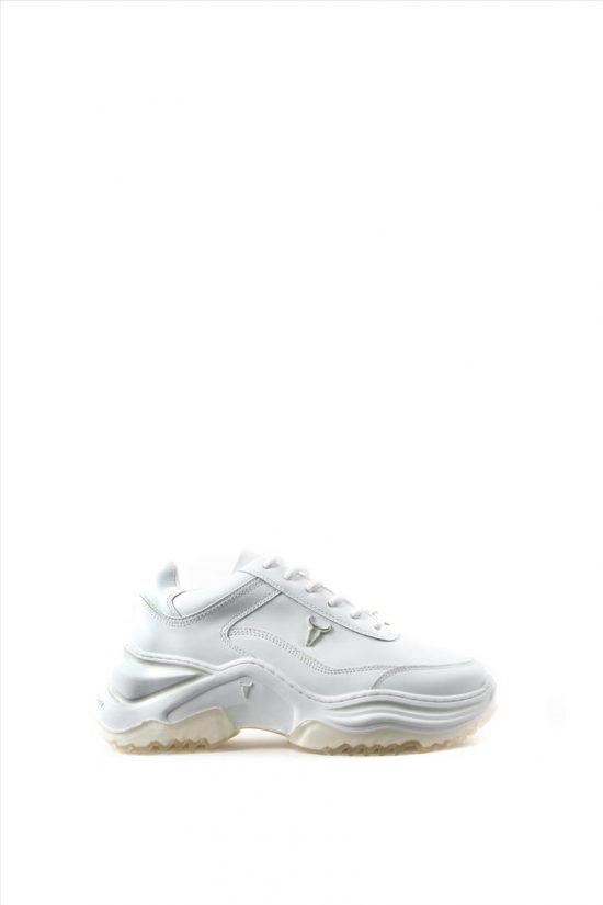 Γυναικεία Δερμάτινα Sneakers WINDSOR SMITH CHAOS 0112000480 WHITE