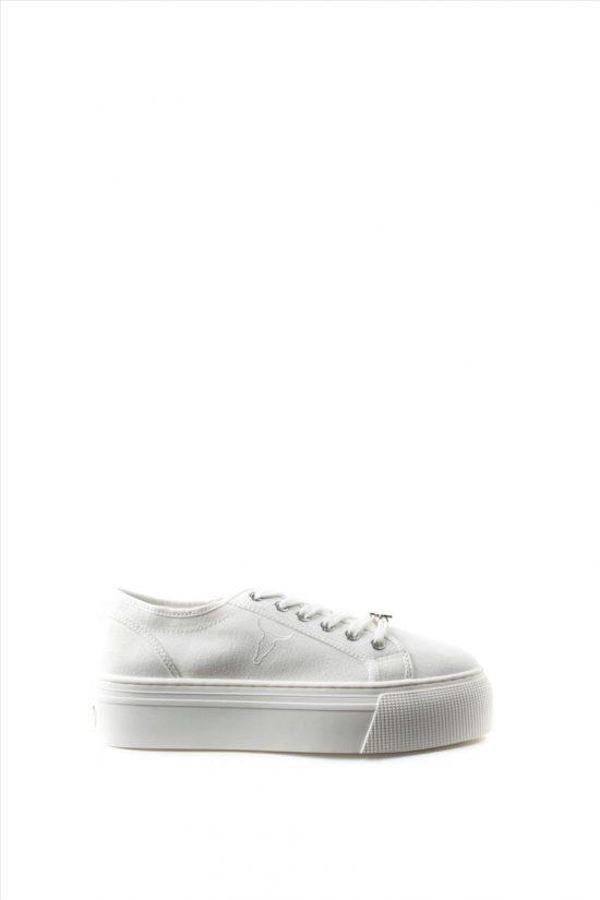 Γυναικεία Yφασμάτινα Sneakers WINDSOR SMITH RUBY 0112000487 WHITE