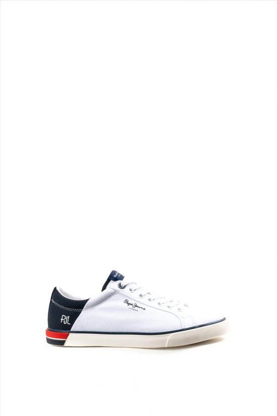 Ανδρικά Υφασμάτινα Sneakers PEPE JEANS PJ0SHPMS306320 WHITE