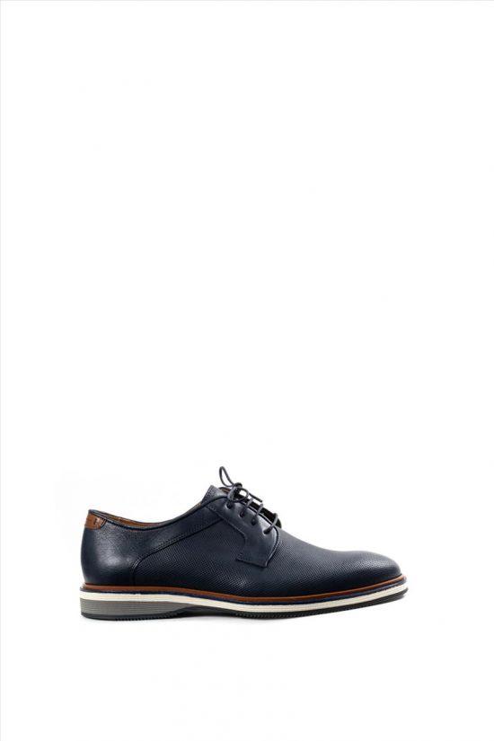 Ανδρικά Δερμάτινα Δετά Παπούτσια DAMIANI 20-10-2302 ΜΠΛΕ