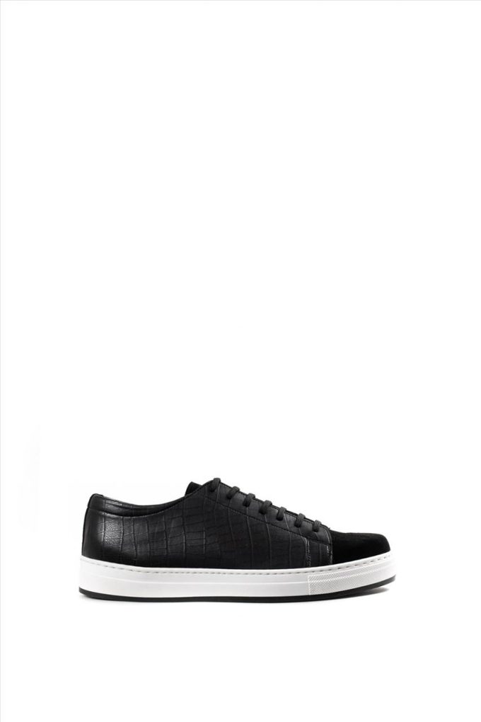 Aνδρικά Δερμάτινα Παπούτσια ART A319 ΜΑΥΡΟ