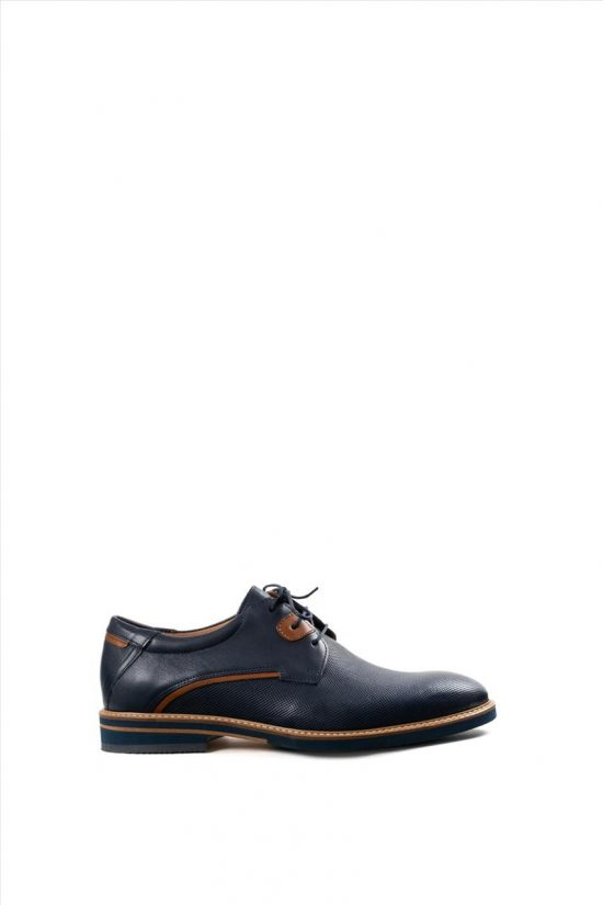 Ανδρικά Δερμάτινα Δετά Παπούτσια DAMIANI 20-10-1051 ΜΠΛΕ