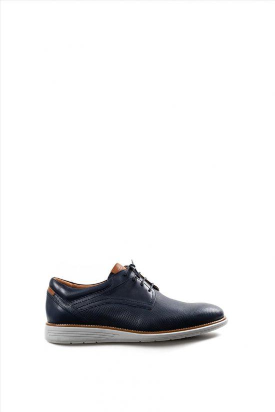 Ανδρικά Δερμάτινα Δετά Παπούτσια DAMIANI 20-10-2201 ΜΠΛΕ