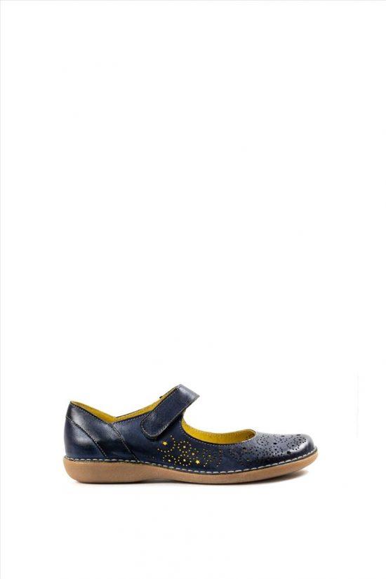 Γυναικεία Δερμάτινα Casual Shoes CHACAL 5003 ΜΠΛΕ