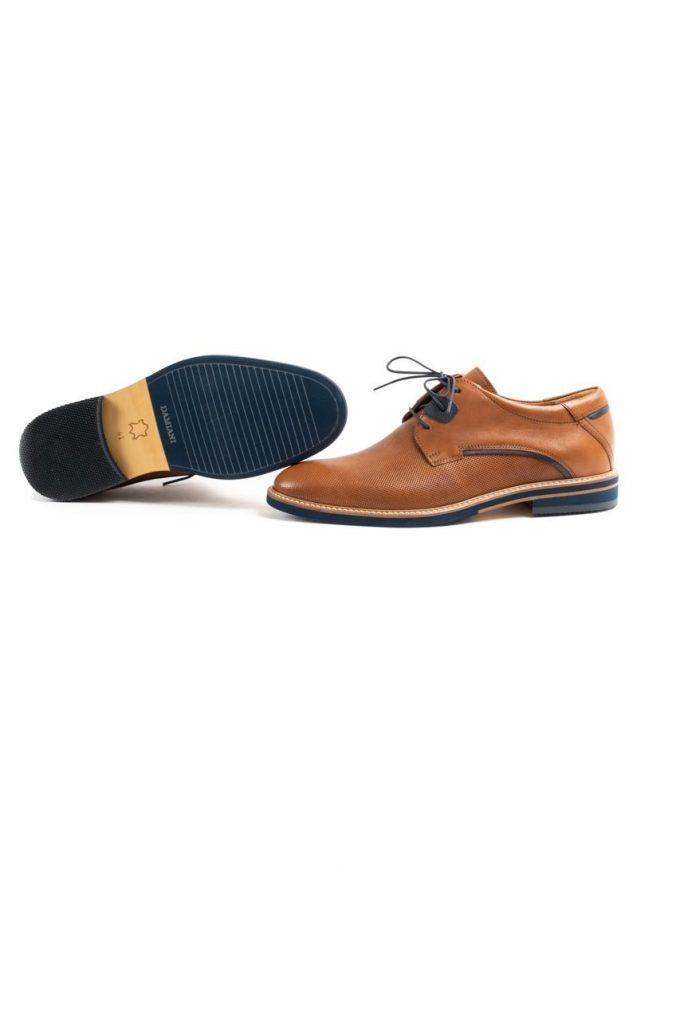 Ανδρικά Δερμάτινα Δετά Παπούτσια DAMIANI 20-07-1051 ΤΑΜΠΑ