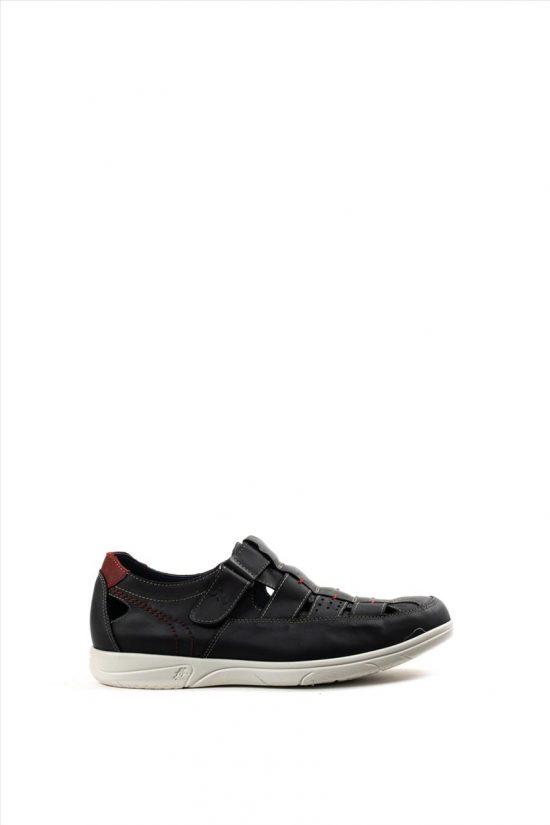 Ανδρικά Δερμάτινα Casual Shoes FLUCHOS SURF CUERO F0105 ΜΑΥΡΟ