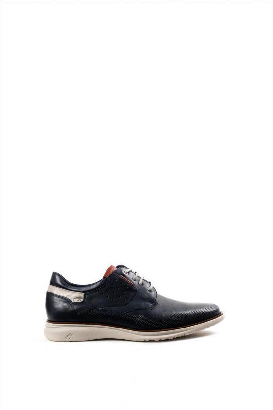 Ανδρικά Δερμάτινα Δετά Παπούτσια FLUCHOS BREZZA F0194 ΜΠΛΕ