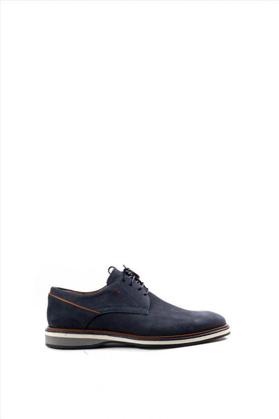 Ανδρικά Δερμάτινα Δετά Παπούτσια DAMIANI 20-10-2300 ΜΠΛΕ