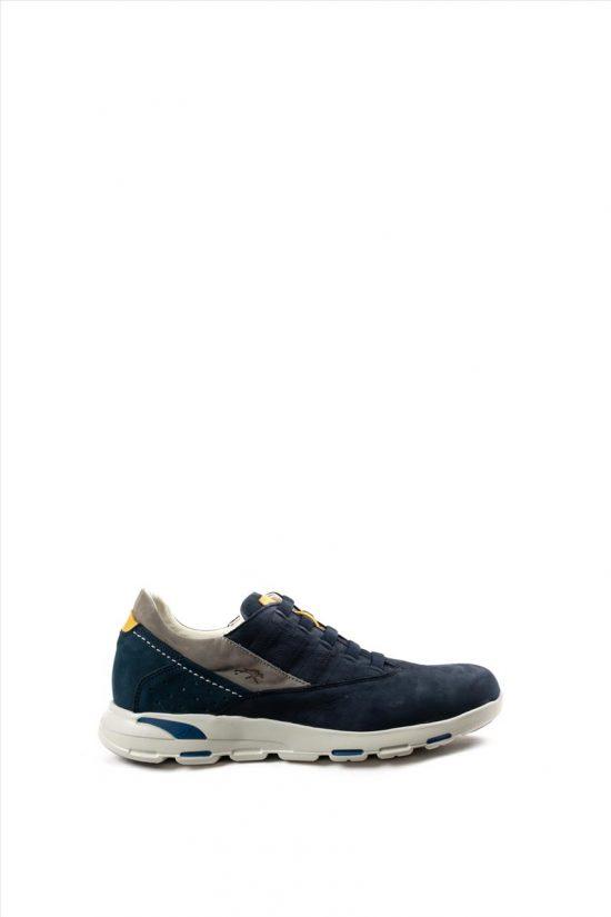 Ανδρικά Δερμάτινα Casual Shoes FLUCHOS DELBUCK F0674 ΜΠΛΕ