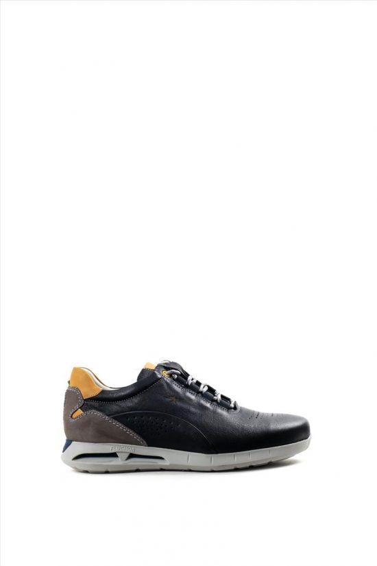Ανδρικά Δερμάτινα Casual Shoes FLUCHOS SAMUN F0556 ΜΑΥΡΟ
