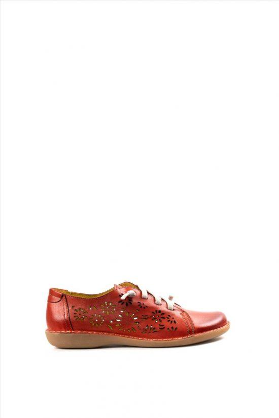Γυναικεία Δερμάτινα Casual Shoes CHACAL 5006 ΚΟΚΚΙΝΟ