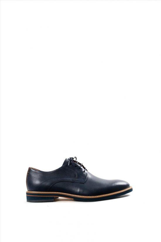 Ανδρικά Δερμάτινα Δετά Παπούτσια DAMIANI 20-10-1052 ΜΠΛΕ