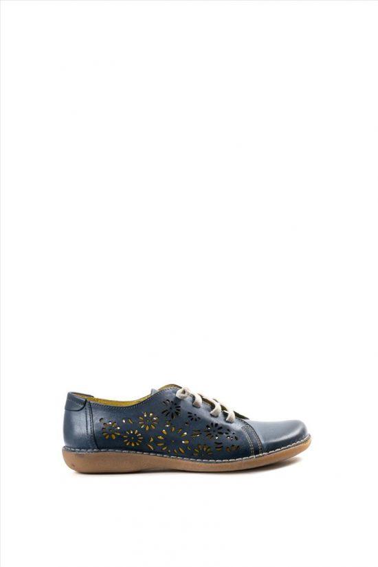 Γυναικεία Δερμάτινα Casual Shoes CHACAL 5006 ΜΠΛΕ
