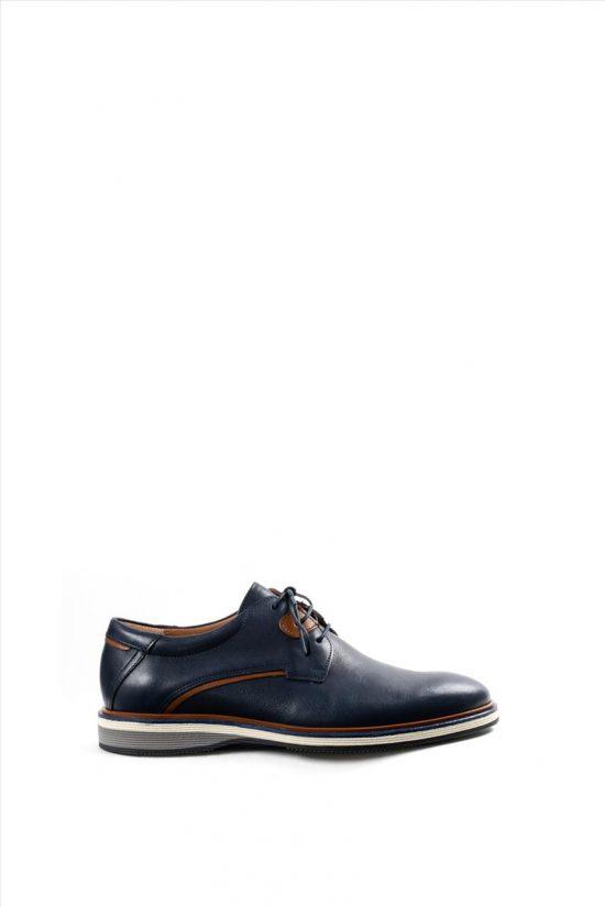 Ανδρικά Δερμάτινα Δετά Παπούτσια DAMIANI 20-10-2301 ΜΠΛΕ