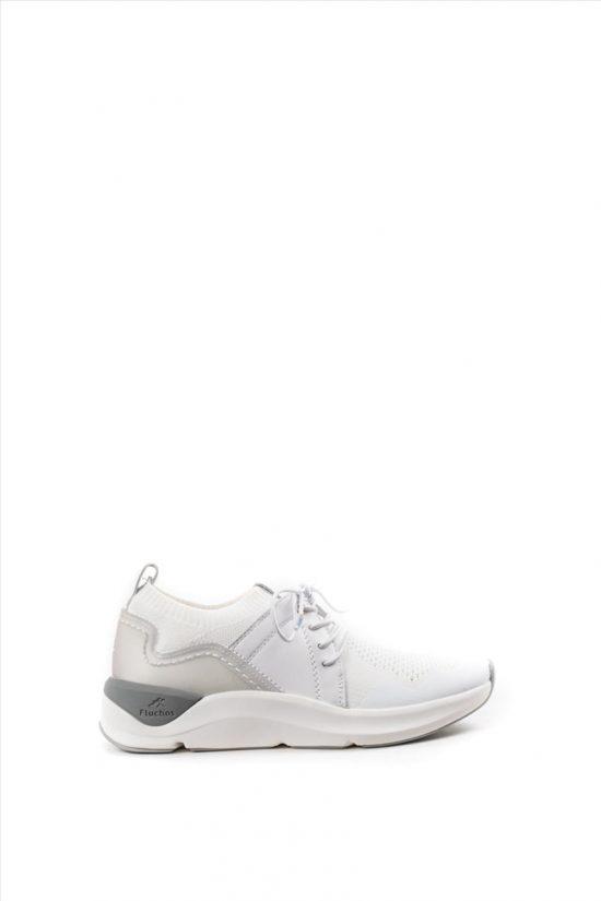 Γυναικεία Sneakers FLUCHOS ATOM F0876 ΑΣΠΡΟ