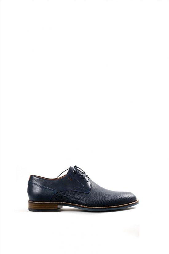 Ανδρικά Δερμάτινα Δετά Παπούτσια DAMIANI 20-10-2350 ΜΠΛΕ