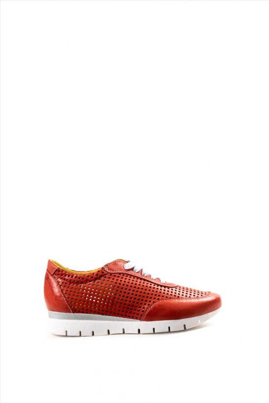 Γυναικεία Δερμάτινα Casual Shoes CHACAL 5063 ΚΟΚΚΙΝΟ