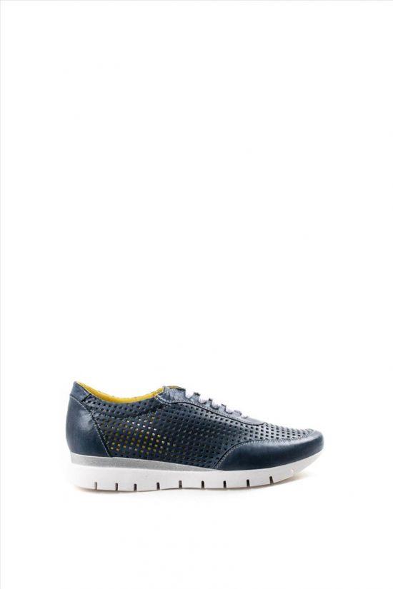 Γυναικεία Δερμάτινα Casual Shoes CHACAL 5063 ΜΠΛΕ