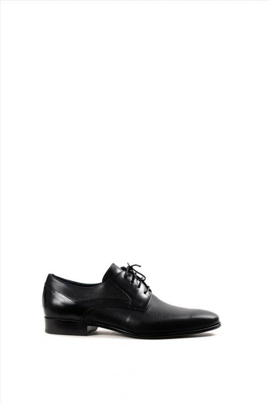 Ανδρικά Δερμάτινα Δετά Παπούτσια DAMIANI 20-01-1100 ΜΑΥΡΟ