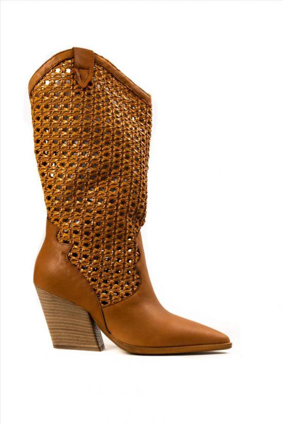Γυναικείες Δερμάτινες Μπότες SANTE 20-163 ΤΑΜΠΑ