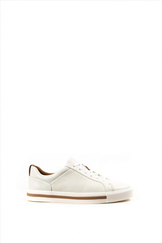 Γυναικεία Δερμάτινα Casual Shoes CLARKS UN MAUI LACE WHITE