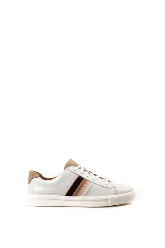 Γυναικεία Δερμάτινα Casual Shoes CLARKS UN MAUI BAND WHITE