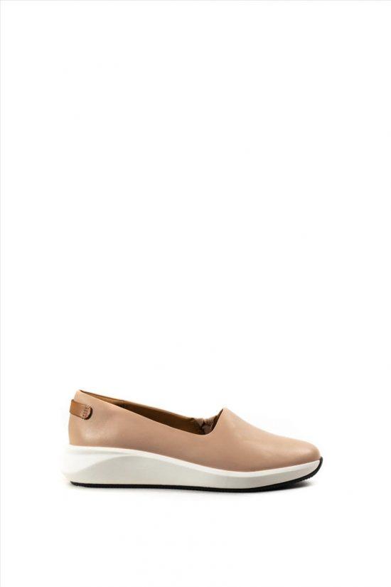 Γυναικεία Δερμάτινα Casual Shoes CLARKS UN RIO STEP NUDE