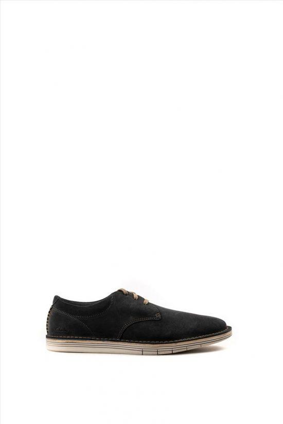 Ανδρικά Δερμάτινα Casual Shoes CLARKS FORGE VIBE ΓΚΡΙ
