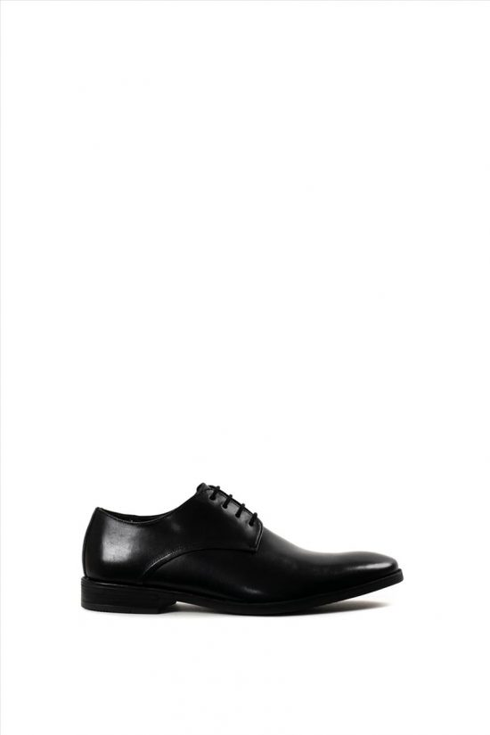 Ανδρικά Δερμάτινα Δετά Παπούτσια CLARKS STANFORD WALK BLACK
