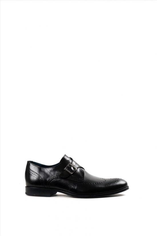 Ανδρικά Δερμάτινα Δετά Παπούτσια DAMIANI 20-01-1190 ΜΑΥΡΟ