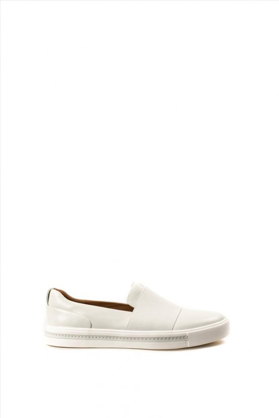 Γυναικεία Δερμάτινα Casual Shoes CLARKS UN MAUI STEP WHITE