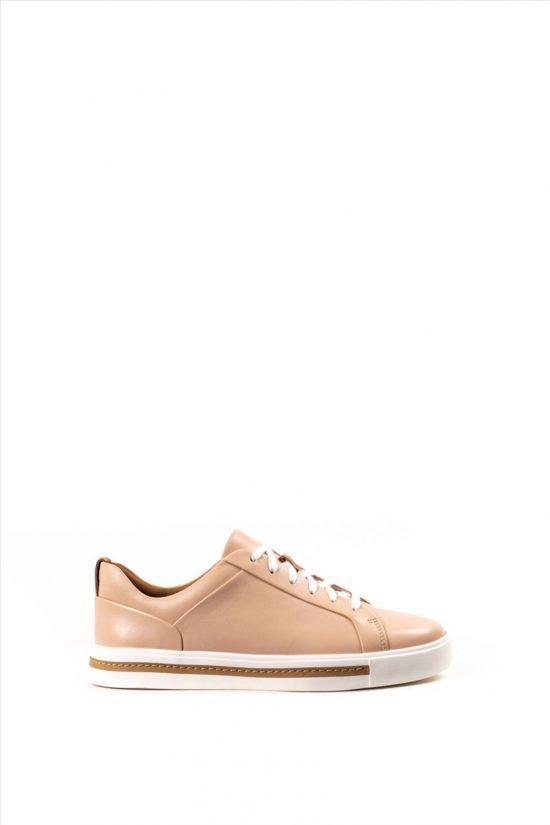 Γυναικεία Δερμάτινα Casual Shoes CLARKS UN MAUI LACE NUDE