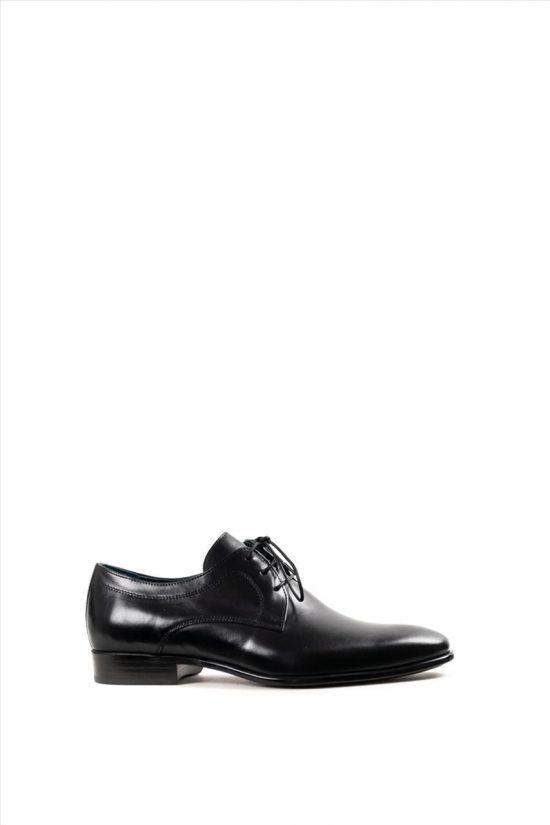Ανδρικά Δερμάτινα Δετά Παπούτσια DAMIANI 20-01-1105 ΜΑΥΡΟ