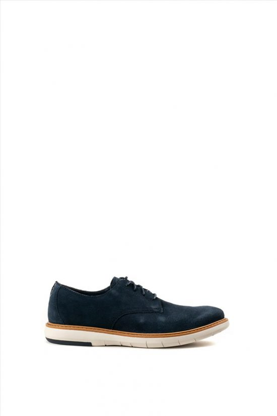 Ανδρικά Δερμάτινα Casual Shoes CLARKS DRAPER LACE NAVY