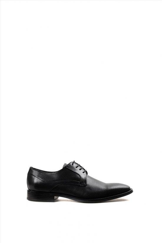 Ανδρικά Δερμάτινα Δετά Παπούτσια ZAKRO COLLECTION 4183 BLACK RAFIA